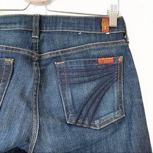 7 For All Mankind Dojo Jeans Blue Flare Leg Sz 26